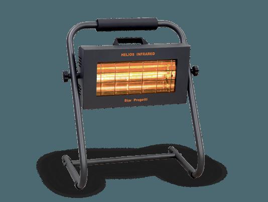 lampada infrarossi per riscaldamento con supporto mobile direzionabile colore nero di Varmatec modello V4002