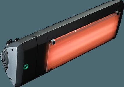 lampada a infrarossi con potenza regolabile, controllo bluetooth e vetro whitescreen per la riduzione della luminosità emesse heliosa 9.3 di star progetti