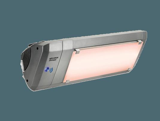 lampada infrarossi riscaldante senza luce modello heliosa 9 con controllo bluetooth e vetro whitescreen di star progetti