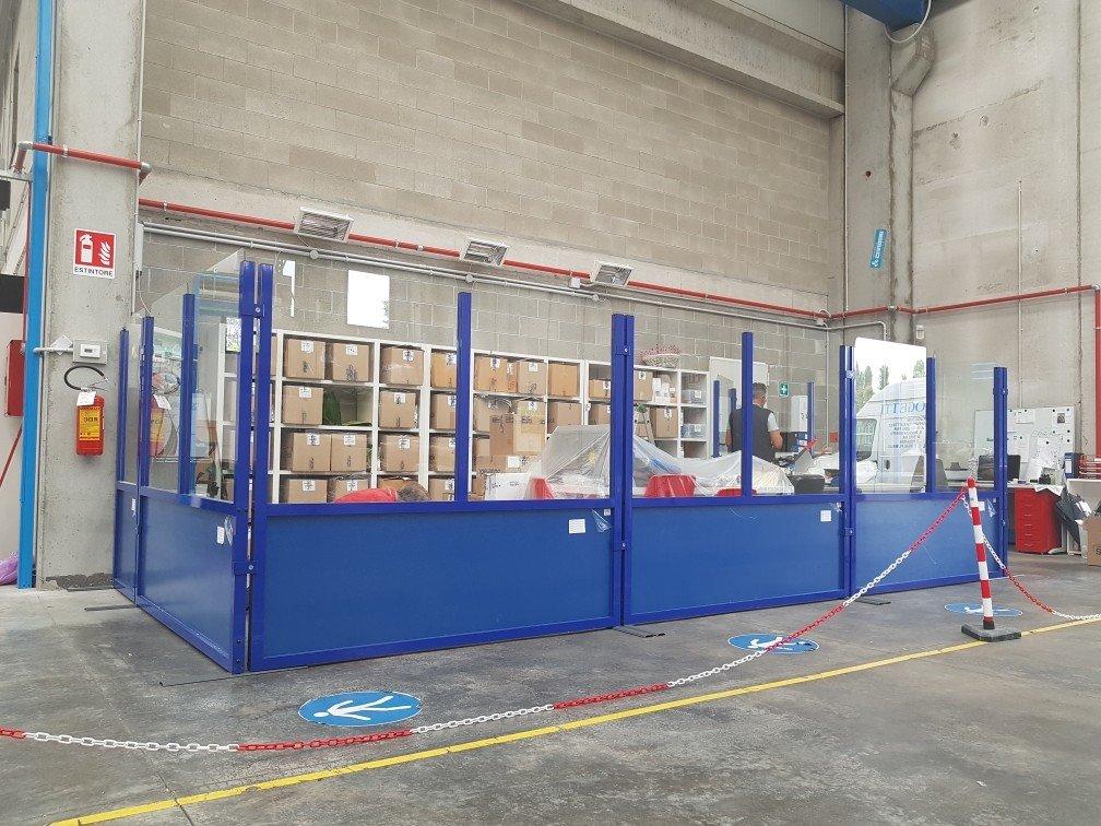pareti divisori industriali mobili