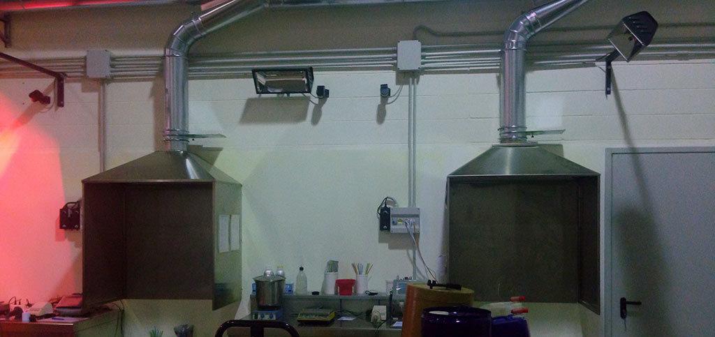 laboratorio di produzione materiali infiammabili riscaldato da riscaldatori atex di Star Progetti